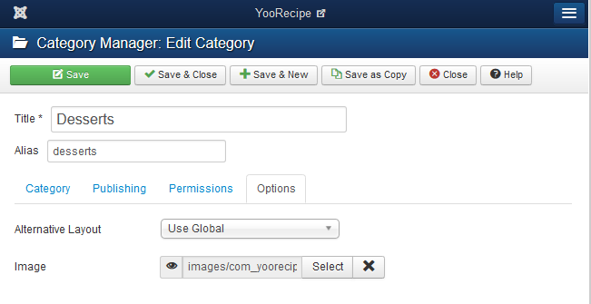 YooRecipe Category Detail